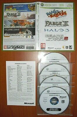 Banjo Kazooie, Fable II Goty , Halo 3, Gears of War 2, Xbox 360/One, Pal-Spain