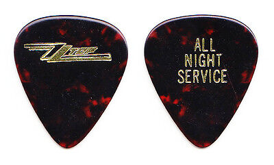 ZZ Top Billy Gibbons All Night Service Guitar Pick - 1985-1986 Afterburner Tour