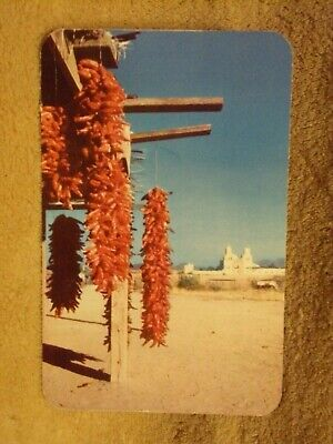 Vintage Postcard Chili Peppers, Native Hut Drying In The Sun