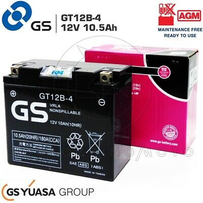 Batteria Gs Gt12B-4 Pronta All'uso Yamaha Fz6 N,Ns,S2(Rj07) 600 2004-2010