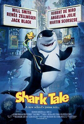 Shark Tale Original D/S Rolled Movie Poster 27x40  Will Smith   Robert De Niro