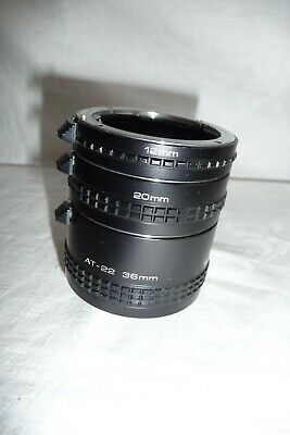 Extension tube VIVITAR AT-21 36 20 12 mm PENTAX mount ... X28