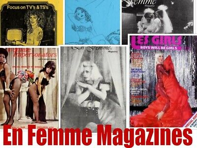 31 EN FEMME MAGAZINES PDF Transvestite Cross Dress Gay Mags Drag DVD DISC