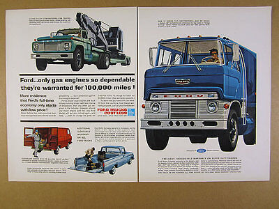 1962 Ford Trucks pickup van H series Tilt-Cab super duty art vintage print Ad
