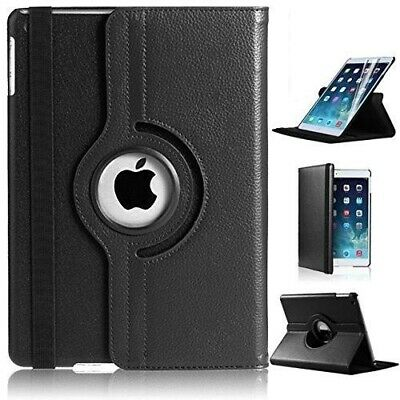For iPad Air 9.7 inch 2017360 Degree Rotating Black Leather Stand Case Cover