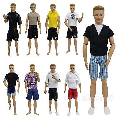 """LOT 5 Sets Clothes Summer Beach Casual Wear Outfit for 11.5"""" Ken Doll Boyfriend"""