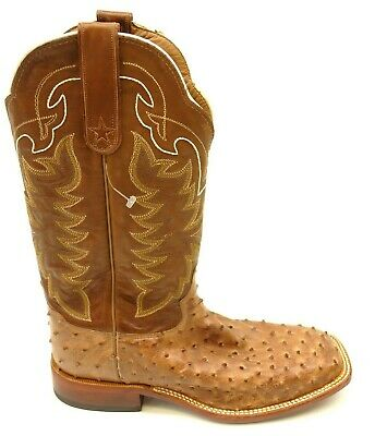 c9284586556 MENS TONY LAMA Full Quill Ostrich Cowboy Boots Size 9 Ee Brown ...