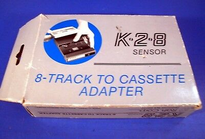 8 Track to Cassette Adapter K-2-8 Sensor with Instructions