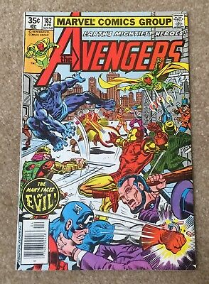 THE AVENGERS  No. 182 Apr 1979 Vintage Comic Book F stored in acid-free bag