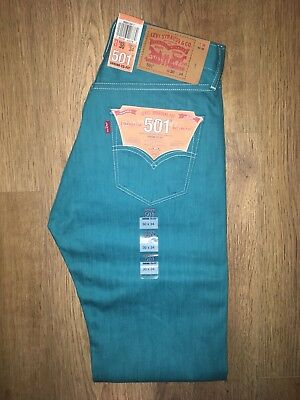 98e74b4d2df Levis 501 Shrink To Fit Men's 'Port Blue' Jeans W30 L34 BNWT RRP £