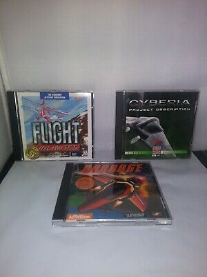 Pc Games (Flight unlimited-Cyberia PD-Barrage) lot of 3 Computer Gaming World