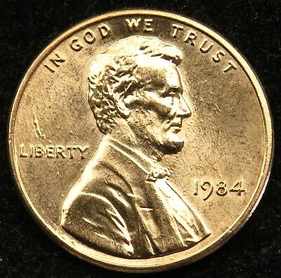 1984 Uncirculated Lincoln Memorial Cent Penny BU (B02)