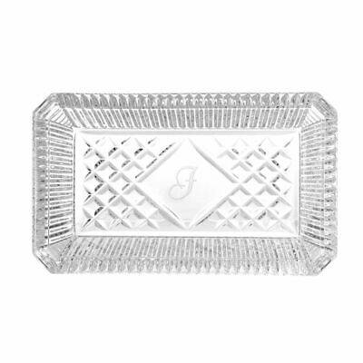 """Waterford Crystal Heritage 7.25"""" Monogrammed Tray Inspired by Jorge Perez - J"""