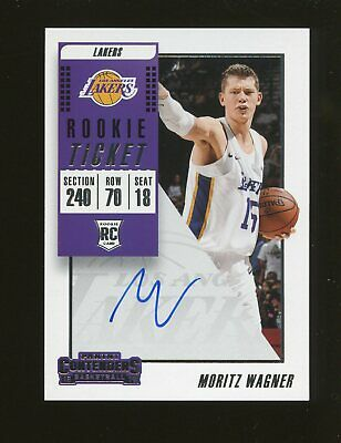6b3514a0ce3 2018-19 Panini Contenders Rookie Ticket Moritz Wagner RC AUTO Los Angeles  Lakers