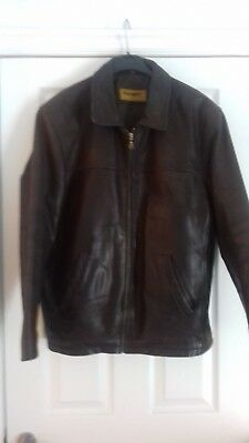 39cc2c05 VTG CAMPRI HOWARD Stone brown suede leather bomber jacket 42 medium ...