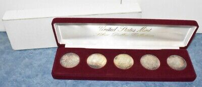 US Mint Morgan Silver Dollar Collection 1883-1887 (5-Coins) with Box
