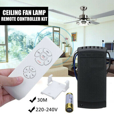 Universal Ceiling Fan Light Lamp Wireless Remote Control Speed Controller Switch