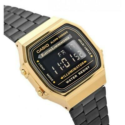 NEW Casio Black and Gold Vintage Watch
