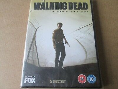 The Walking Dead - Series 4 - Complete (DVD 5-Disc Box Set) NEW AND SEALED REG 2