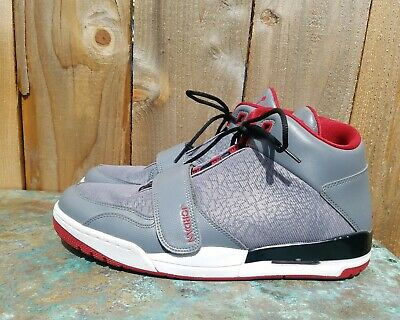 size 40 22f3f f0c5e Nike Jordan Flight Club 90 s Basketball shoes Men s sz 11 Grey Red 602661 -022