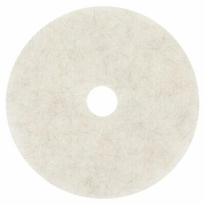 "3M Natural Blend White Pad 3300, 20"" (Case of 5)"