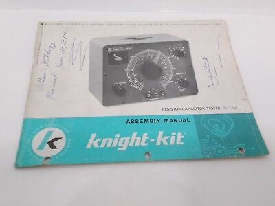 Knight-Kit Resistor Capacitor Tester 83 Y 124 Assembly Manual
