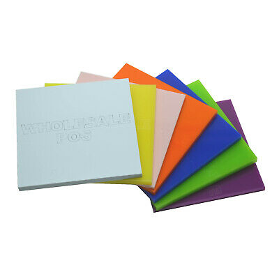 Large Stock Sheets Of 3Mm & 5Mm Thick Coloured Genuine Perspex Cast Acrylic