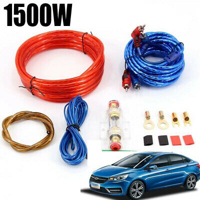1500w 8GA Car Amplifier Wiring Kit Audio Subwoofer AMP RCA Power Cable Sub CE