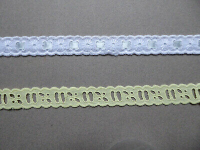 Vintage Cotton Eyelet Ribbon Broderie Anglaise. Price per Metre