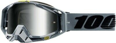 100/% Racecraft Starlite MX Offroad Goggles Black//Mirrored Lens