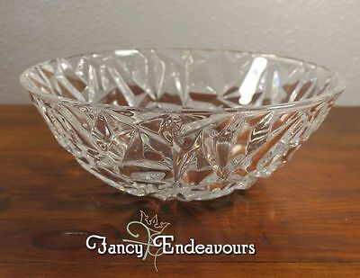 Tiffany & Co. Company Crystal Rock Cut Serving Art Glass Bowl