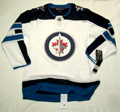 e9e3fbc5deb WINNIPEG JETS sz 50 = Medium ADIDAS NHL HOCKEY JERSEY Climalite Authentic  White