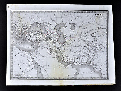 1839 Monin Map Empire of Alexander the Great Middle East Asia Minor Greece Egypt