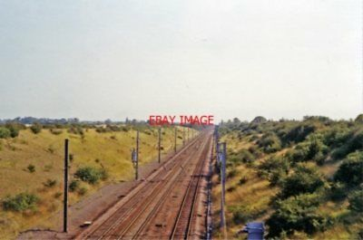 Photo  Abbots Ripton Railway Station Cambs. Site 1991 Gnr London - Doncaster Etc