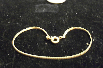 bling gold plated FASHION JEWELRY 1mm 9 inch serpentine hip hop chain anklet GP