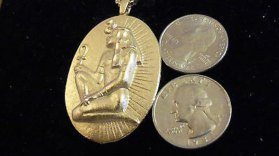 bling gold plated egyptian KING GOD pharaoh myth Charm Pendant chain Necklace gp