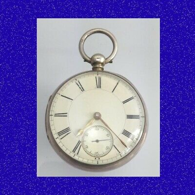 Rare & Stunning Silver Fusee Drinkwater of Coventry Newsome Pocket Watch 1886