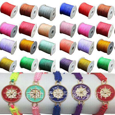 135Yard Nylon Cord Thread Chinese Knot Macrame Rattail Bracelet String 0.8mm