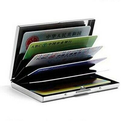 Anti-scan Metal Case Slim RFID Blocking Wallet Clip ID Credit Card Holder Men