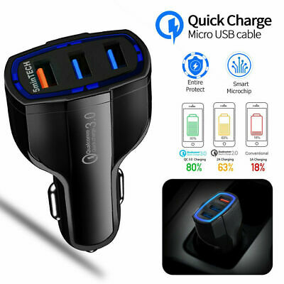 Quick Charge 3 Ports USB Qualcomm QC  3.0 In Car Charger Fast Charging Adapter