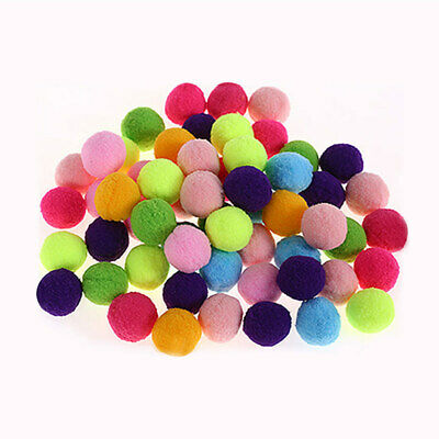Mixed Color Soft Fluffy Balls For Kids Decoration Handcraft Toy 25mm 300PCS