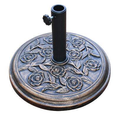 12KG Parasol Base Cast Iron Effect Heavy Duty Garden Umbrella Stand Weights