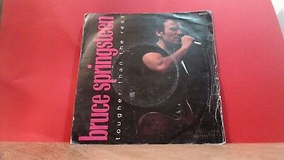 """BRUCE SPRINGSTEEN Tougher Than The Rest Single 7"""" vinyl Record CBS"""