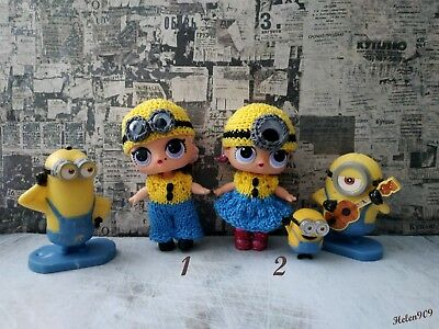 Minion suit for lol. clothes for LoL surprise, LoL doll outfit, handmade knitted