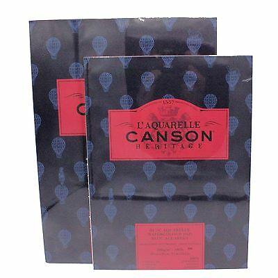 Canson L'Aquarelle Heritage pads watercolour paper 300gsm 140lb Hot cold press