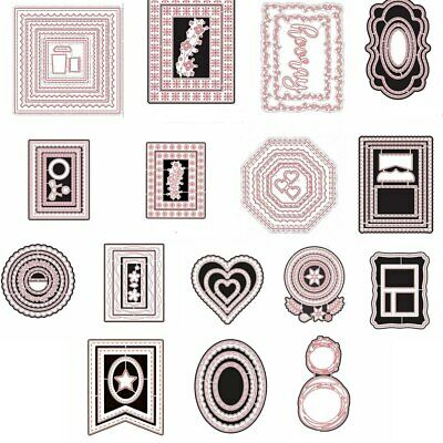 Irregular Frame layers Metal Cutting Dies Stencil Scrapbook Embossing Handcrafts