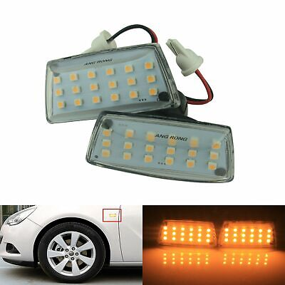 2x LED Side Indicator Repeater Light Opel Vauxhall Adam Astra Corsa Zafira Amber