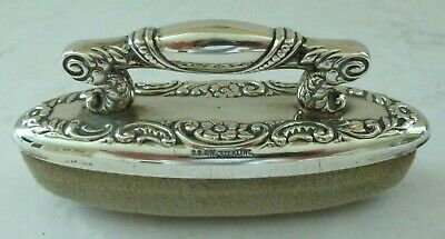 Solid Silver CB & H Codding Brothers Heilbron French Rococo Nail Buffer New York