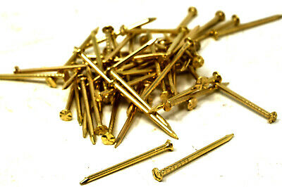 HARDENED PICTURE PINS 22mm BRASS NAILS TACKS HOOKS FRAMES CANVAS PIN HEAD
