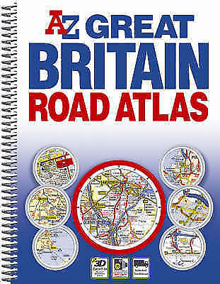Great Britain Spiral Road Atlas, Geographers' A-Z Map Company, Very Good Book